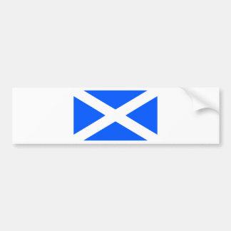Imagen clásica de la bandera del saltire etiqueta de parachoque