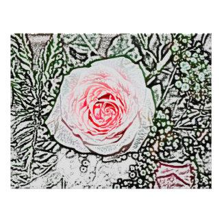 imagen color de rosa rosada de la flor del color d plantilla de membrete