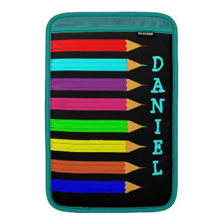 Imagen colorida de los lápices del colorante del a funda macbook air