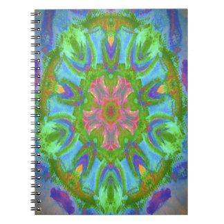 Imagen colorida deseada del diseño del libro de apuntes con espiral