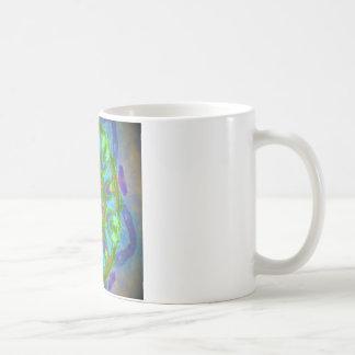 Imagen colorida deseada del diseño del taza básica blanca