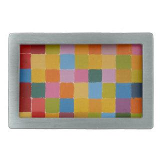 Imagen completa del color hebilla cinturón rectangular