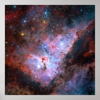 Imagen compuesta del color de la nebulosa de póster
