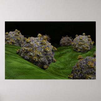 Imagen conceptual de Coxsackievirus 1 Póster
