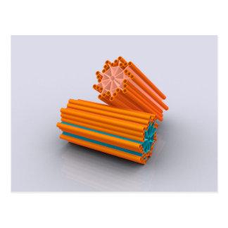 Imagen conceptual de los centríolos 2 tarjetas postales