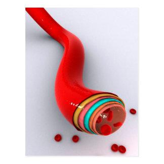 Imagen conceptual de un vaso sanguíneo tarjetas postales