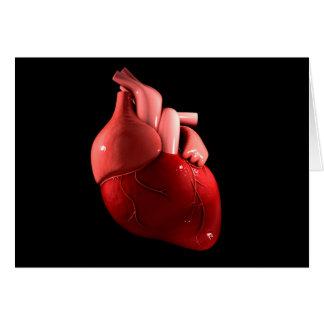 Imagen conceptual del corazón humano 2 tarjeta de felicitación