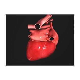 Imagen conceptual del corazón humano 3 impresión en tela