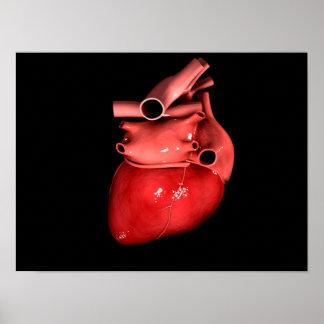 Imagen conceptual del corazón humano 3 póster