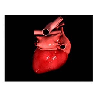 Imagen conceptual del corazón humano 3 postal