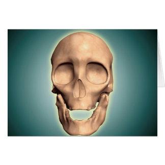 Imagen conceptual del cráneo humano, vista tarjeta de felicitación