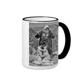 "Imagen congelada - ""taza del monstruo del robot"" taza a dos colores"
