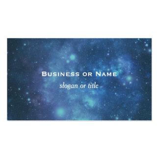 Imagen cósmica azul y púrpura del espacio tarjetas de visita