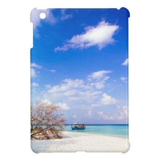 Imagen costera anclada de la playa iPad mini carcasa