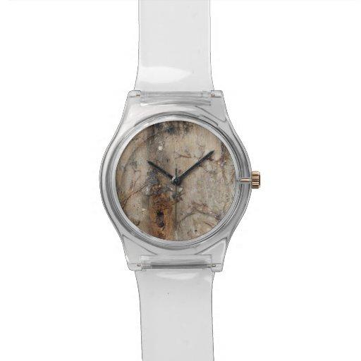Imagen costera del Driftwood Reloj