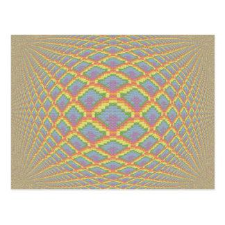 Imagen cruzada colorida de la puntada con el efect tarjeta postal