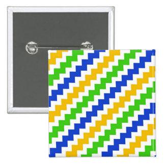 Imagen cuadrada del zigzag del botón de 2 pulgadas pin cuadrado