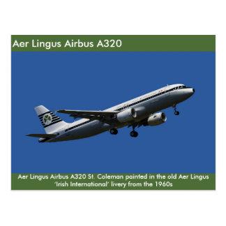 Imagen de Aer Lingus Airbus A320 para la postal