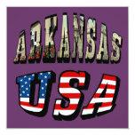 Imagen de Arkansas y texto de la bandera de los Invitación 13,3 Cm X 13,3cm