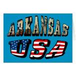 Imagen de Arkansas y texto de la bandera de los Tarjeta Pequeña