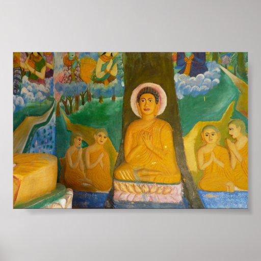 imagen de Buda del camboyano del Gente-arte Póster