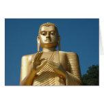 Imagen de Buda del oro Tarjeton
