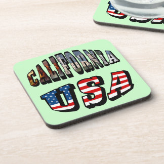 Imagen de California y texto de la bandera de los Posavaso