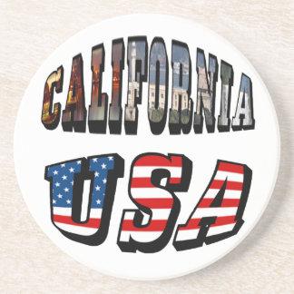 Imagen de California y texto de la bandera de los Posavasos Manualidades