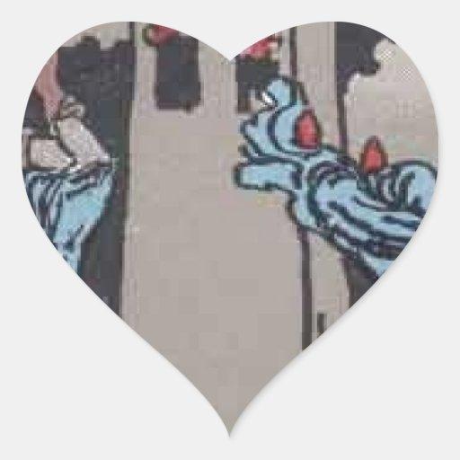 Imagen de carta de tarot de la torre pegatina corazon personalizadas