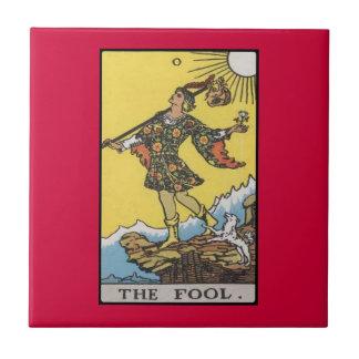 Imagen de carta de tarot del tonto tejas