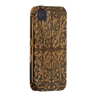 Imagen de cobre de la foto del diseño de la voluta iPhone 4/4S carcasa