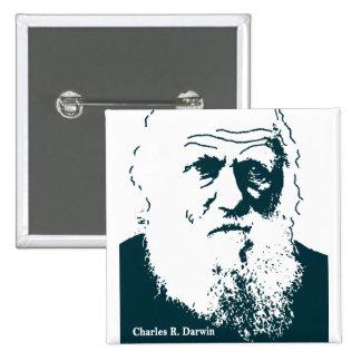 Imagen de Darwin. Botón Pin Cuadrado