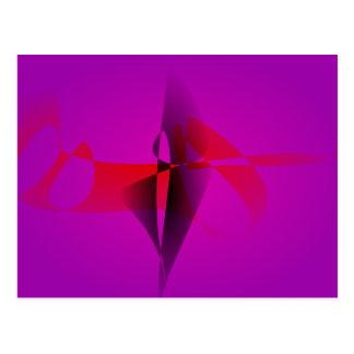 Imagen de Digitaces abstracta púrpura espontánea Postales
