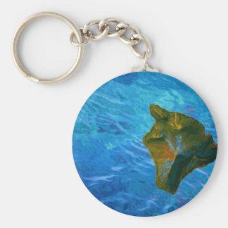 Imagen de Digitaces grande de la isla en el océano Llavero Redondo Tipo Pin