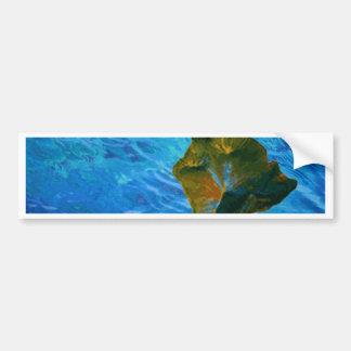 Imagen de Digitaces grande de la isla en el océano Pegatina Para Auto