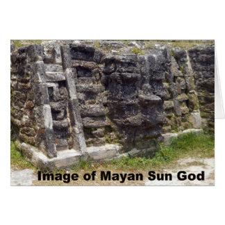 Imagen de dios del sol maya, Belice Tarjeta De Felicitación