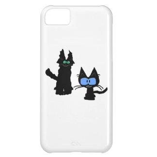 Imagen de dos gatos negros