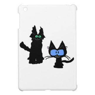 Imagen de dos gatos negros iPad mini cobertura