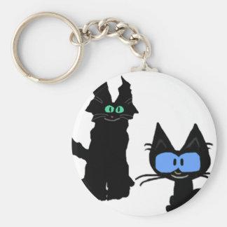 Imagen de dos gatos negros llaveros personalizados
