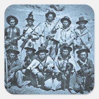 Imagen de Eadweard J. Muybridge de los indios de Pegatina Cuadrada