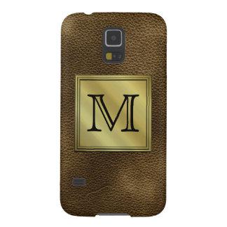 Imagen de encargo impresa del monograma. Brown Carcasa Galaxy S5