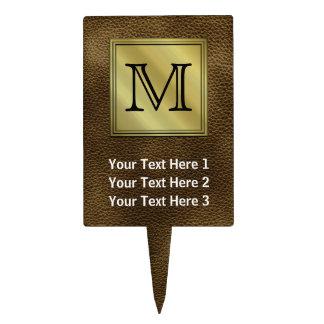 Imagen de encargo impresa del monograma. Brown Decoración De Tarta