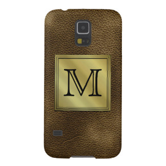 Imagen de encargo impresa del monograma. Brown Carcasa Para Galaxy S5