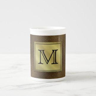 Imagen de encargo impresa del monograma. Brown Taza De Porcelana