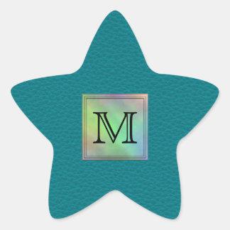 Imagen de encargo impresa del monograma en modelo calcomanía forma de estrella