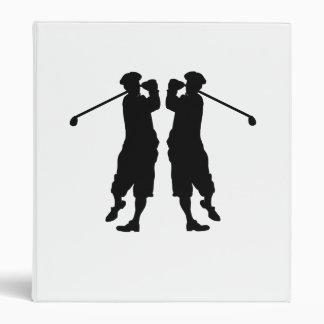 Imagen de espejo del golfista