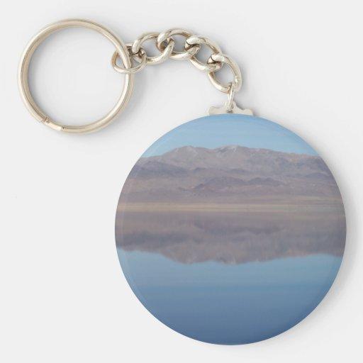 Imagen de espejo del lago walker llavero personalizado