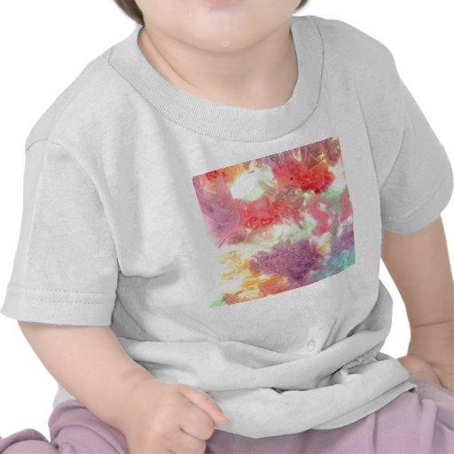 Imagen de fondo colorida en colores pastel del camiseta