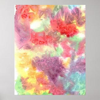 Imagen de fondo colorida en colores pastel del wat póster
