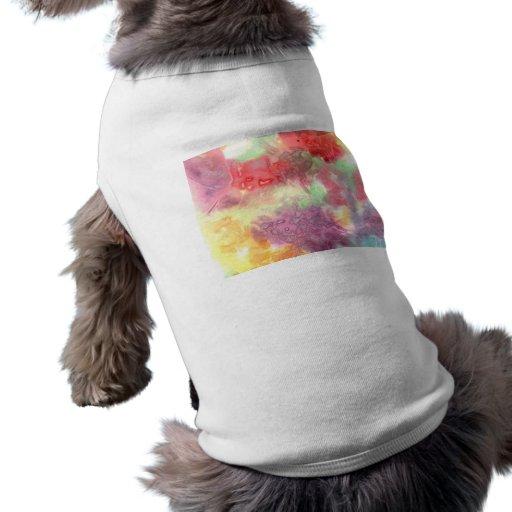 Imagen de fondo colorida en colores pastel del wat ropa macota